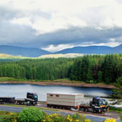 Met Heavy Load Service naar Schotland